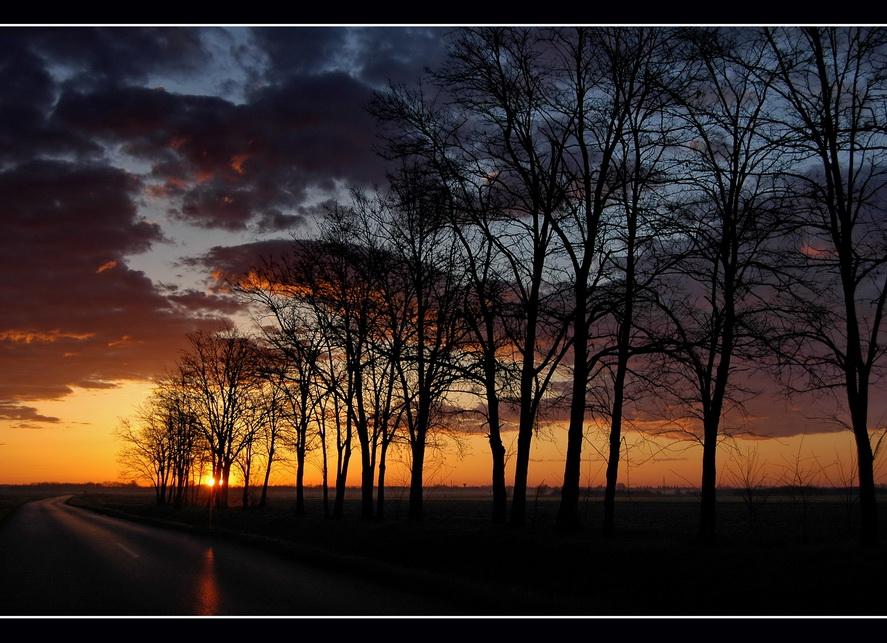 Morgen bei Sonnenaufgang