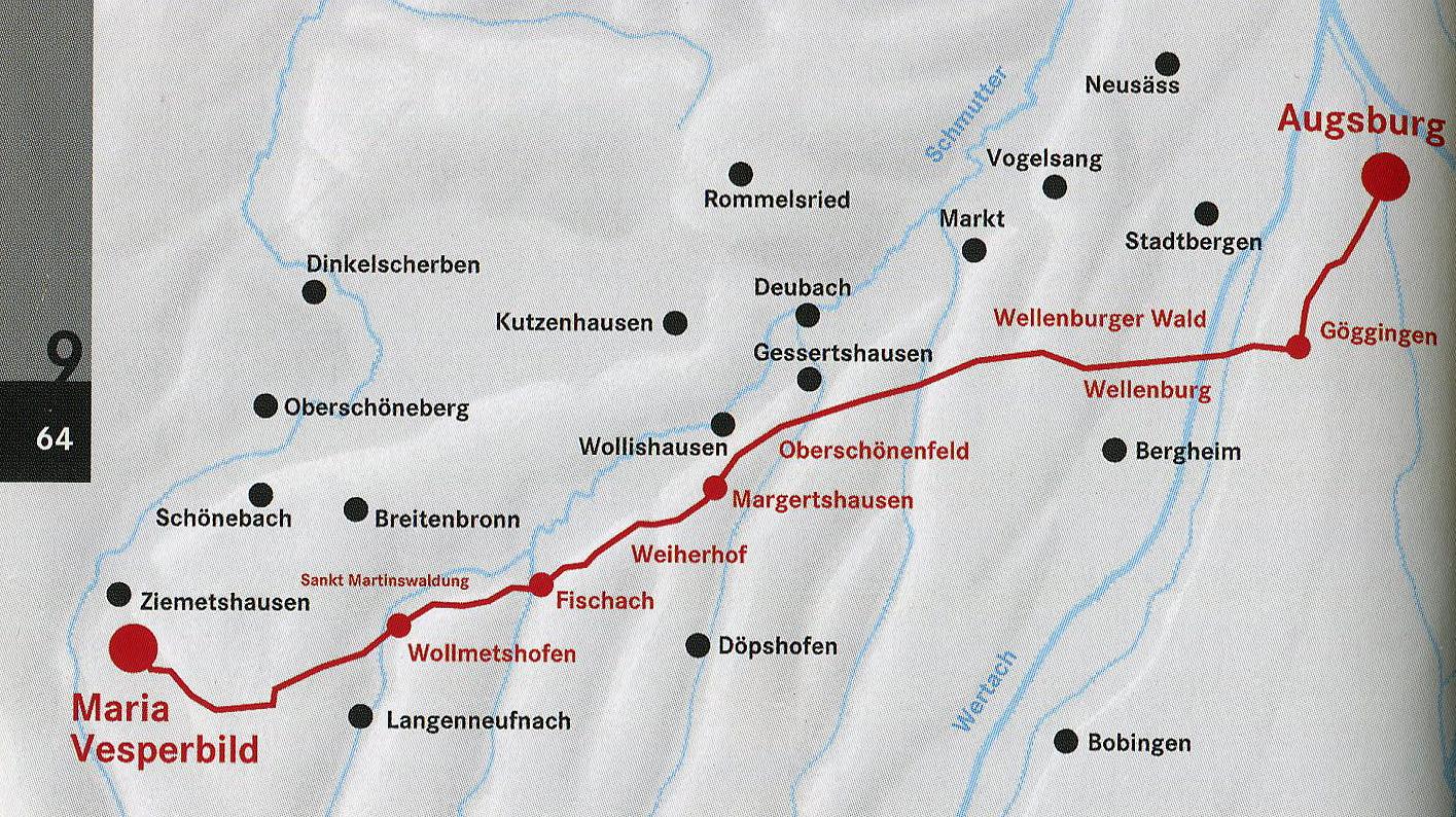 Morgen gehts los - 45 km zu Fuß nach Maria Vesperbild
