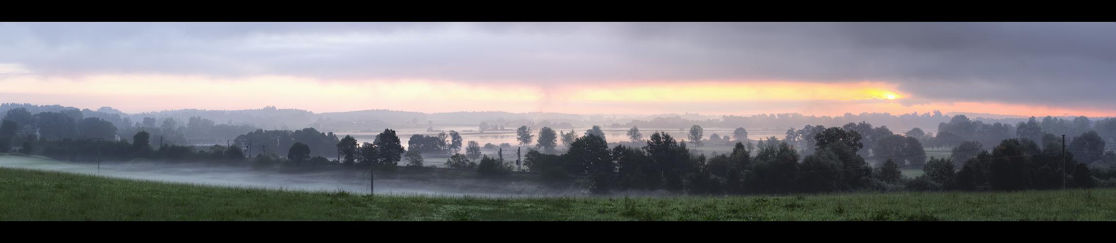 Morgen konnt über Schafwaschen am Chiemsee I (HDR Version)
