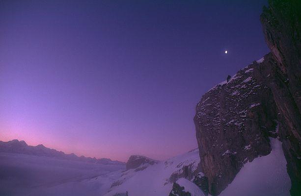 Morgen Mond Licht - Heftiboden, Entlebuch, Schweiz