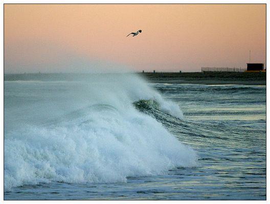Morgendämmerung am Meer