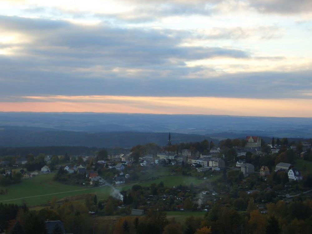 Morgendämmerung über Schöneck