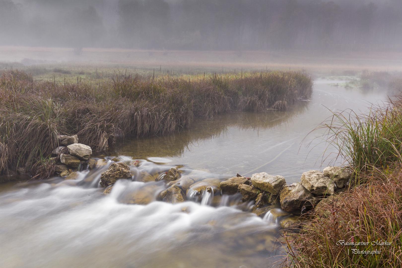 Morgendliche Nebelstimmung am Mittersee in Ruhpolding