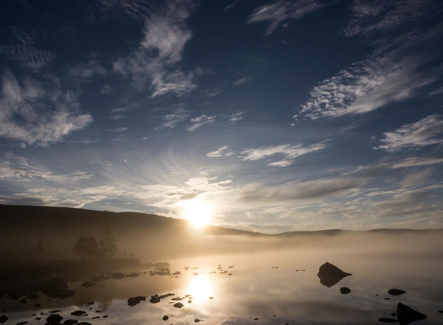 Morgendlicher Nebel am Slagusjön