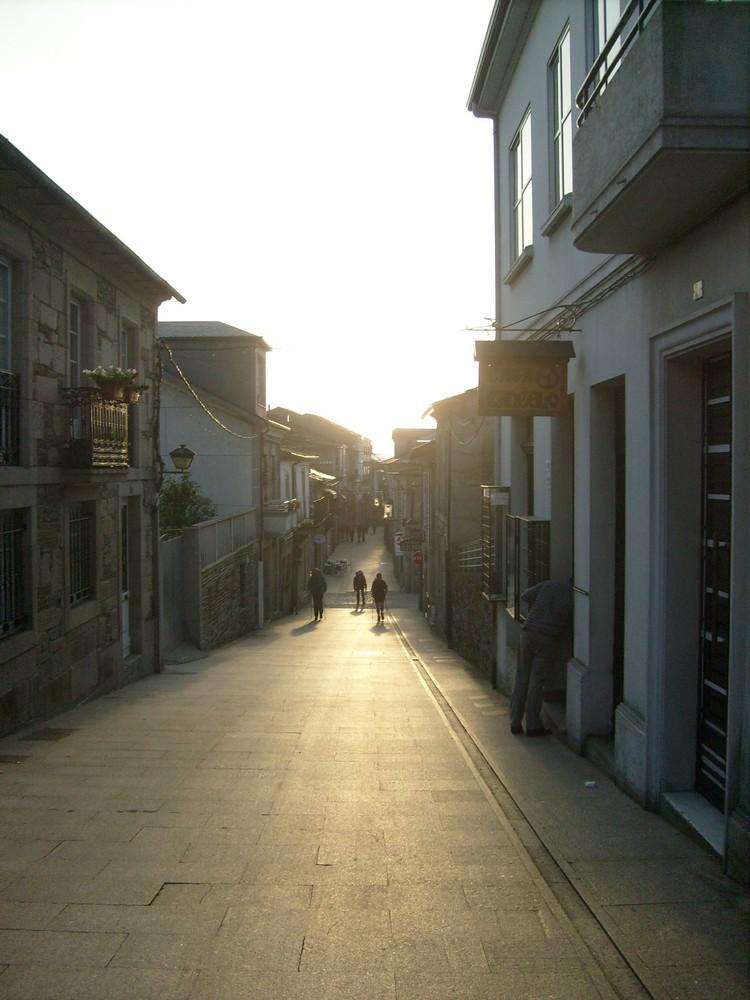 Morgendlicher Pilgerstart in Saria