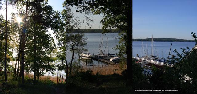 Morgendlicher Scharmützelsee und Yachthafen