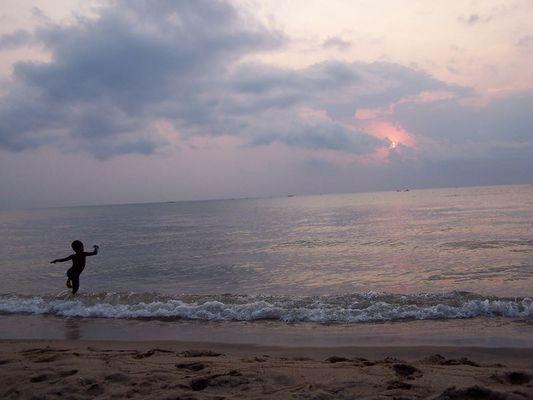 Morgendlicher Tanz am Lake Malawi