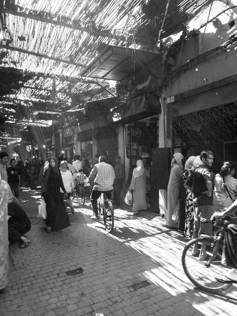 Morgendliches Treiben in Marrakesch
