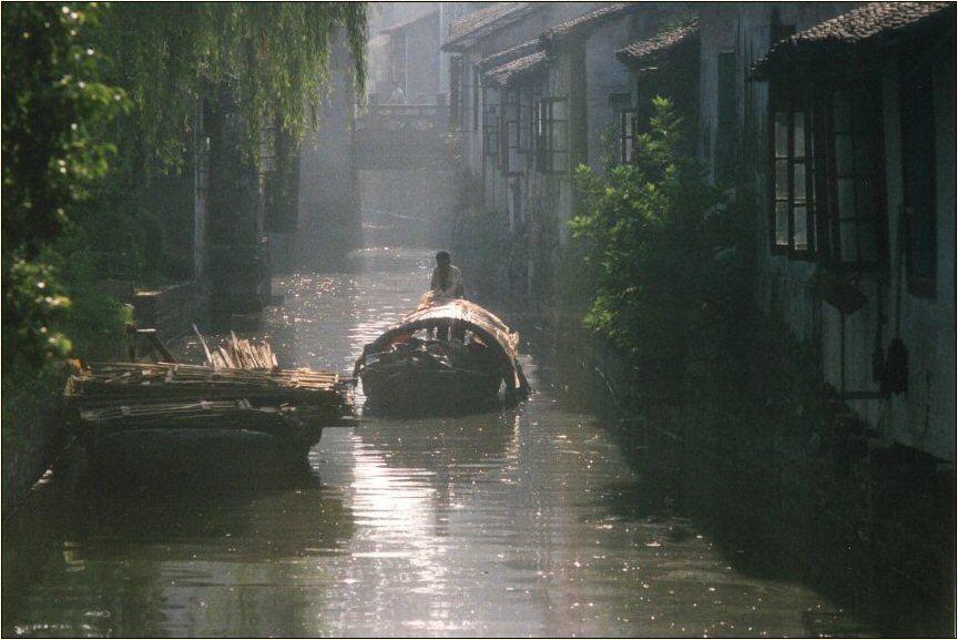 Morgendunst in Suzhou