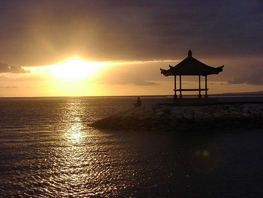Morgengebet auf Bali
