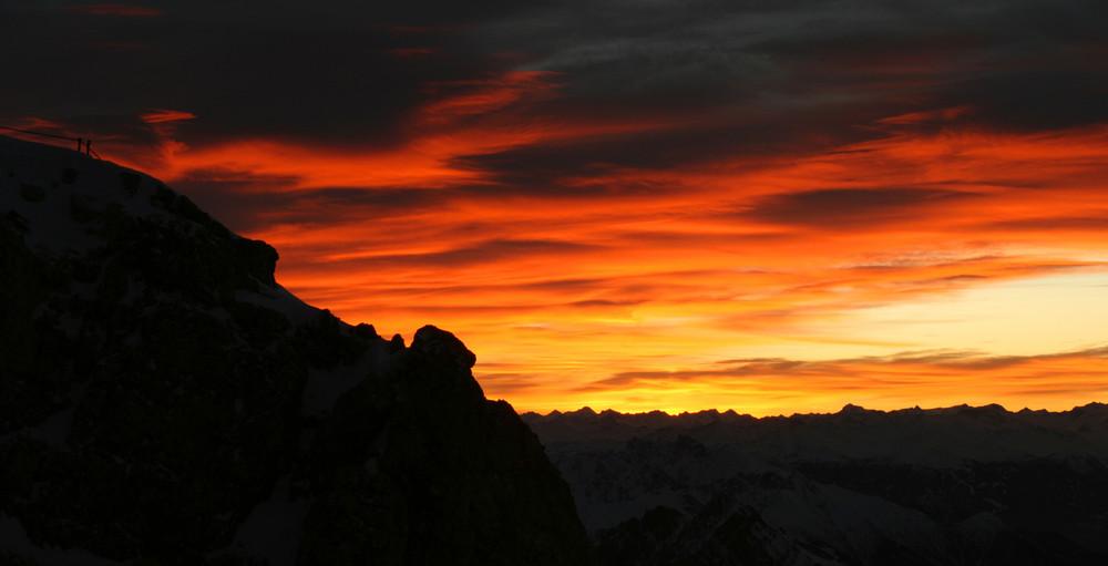 Morgenglühen auf der Zugspitze