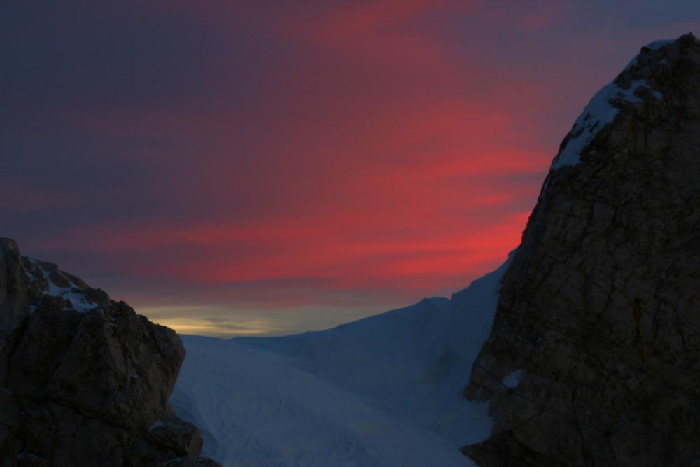 Morgenglühen auf der Zugspitze II