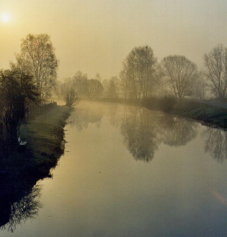 Morgengrauen in Niederfinow
