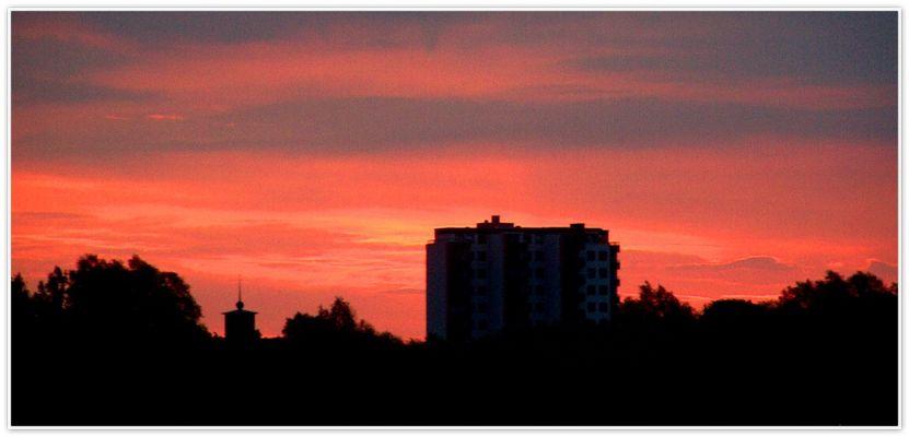 Morgenhimmel über Wedel