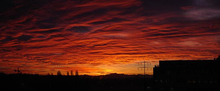 Morgenhimmel über Zürich