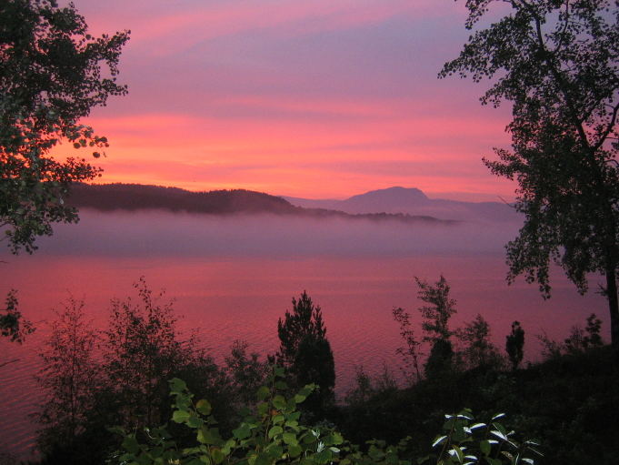 Morgenidylle am Hardangerfjord