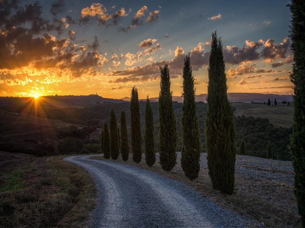Morgenlicht im Orcia Tal