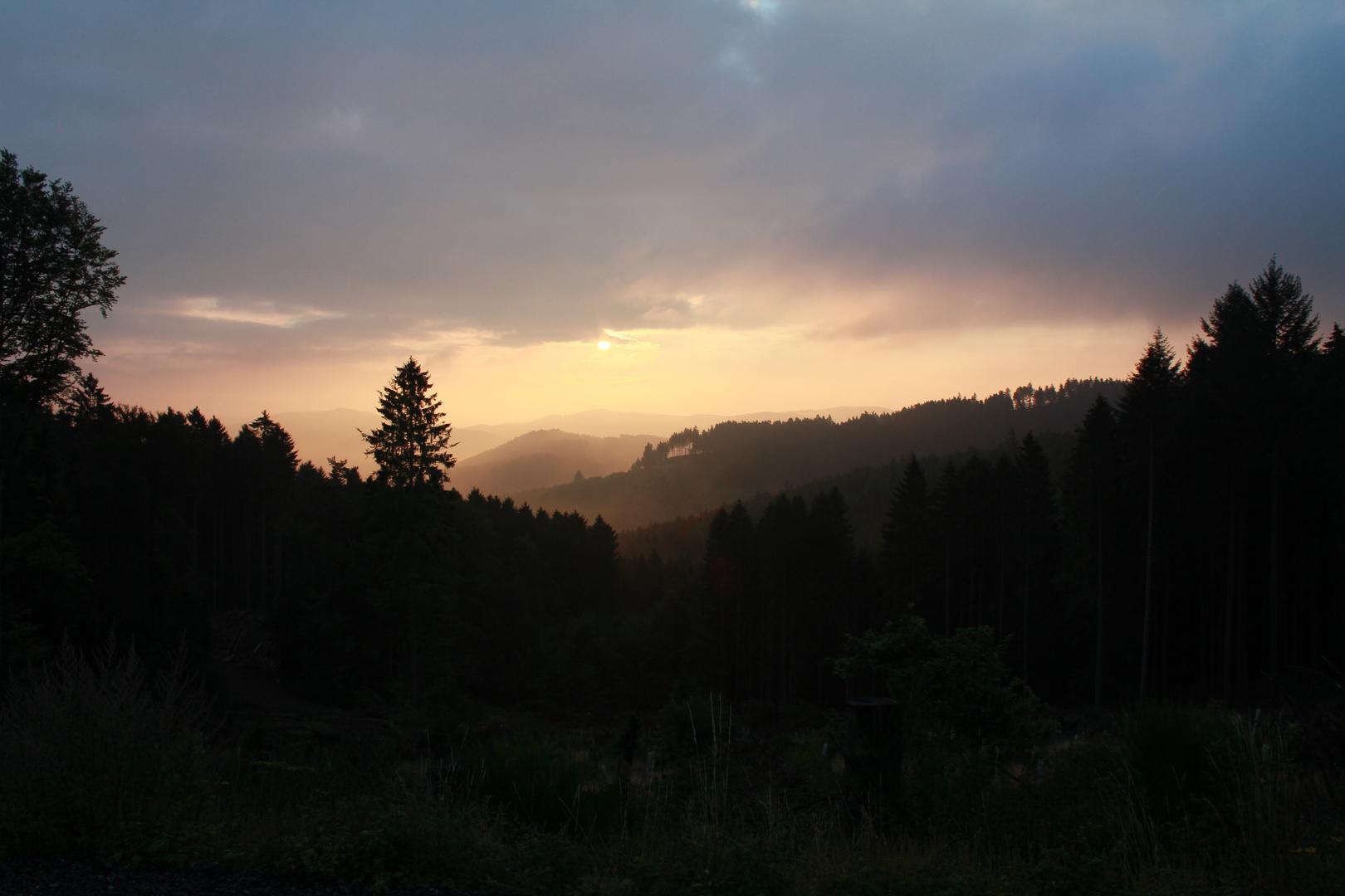 Morgenlicht über dem Dietzhölztal