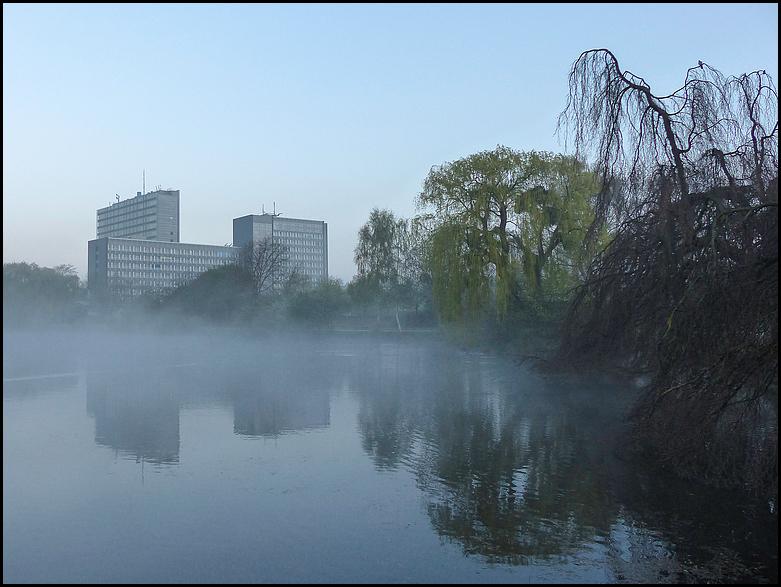 Morgennebel am OLG Hamm