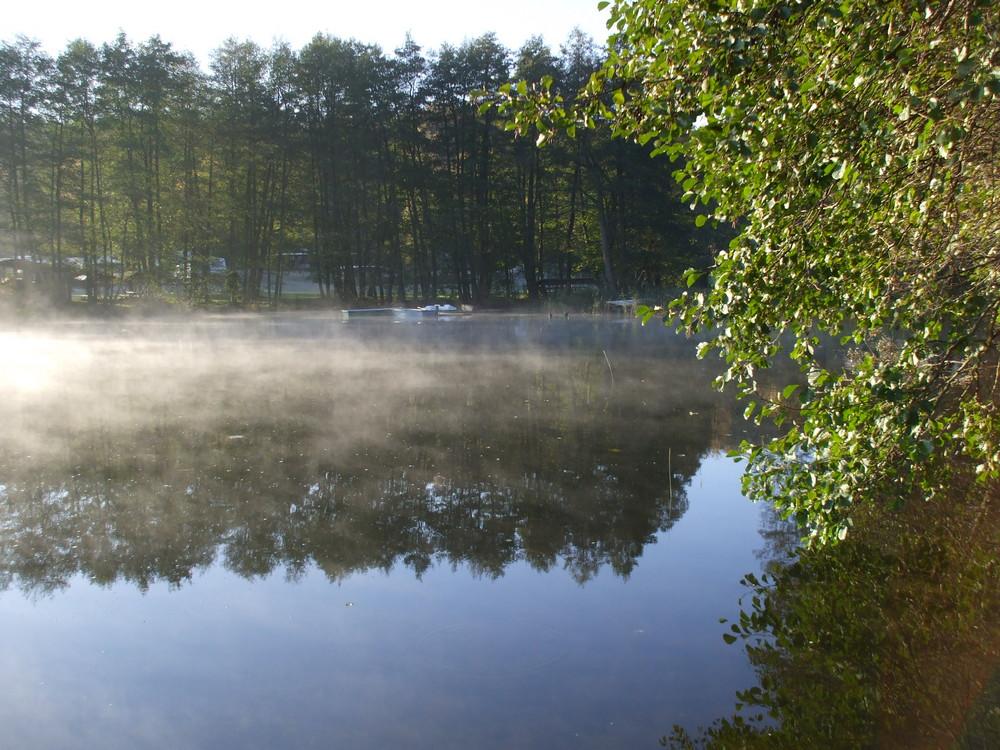 Morgennebel auf dem Klein Pritzer See