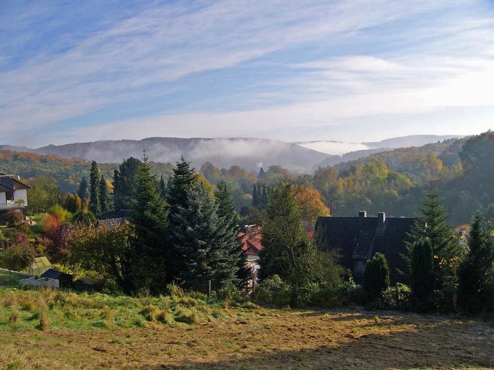 Morgennebel im Fuldatal