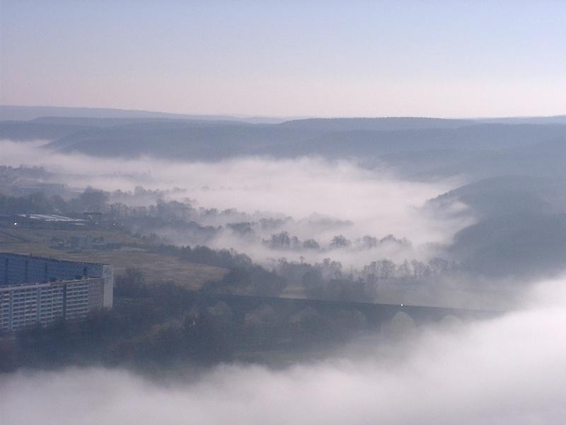 Morgennebel im Tal der Roda