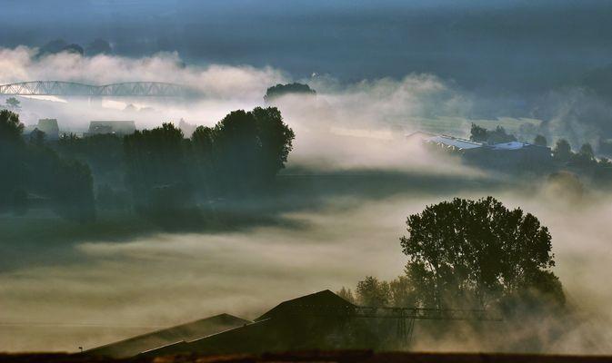 Morgennebel im Wesertal