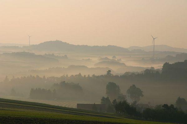 Morgennebel in Rastbach/NÖ