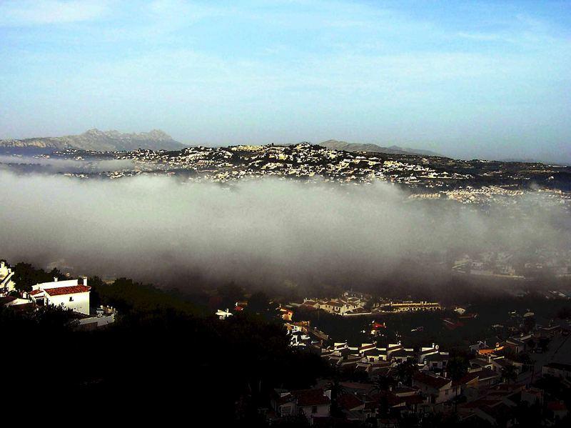 Morgennebel in Spanien