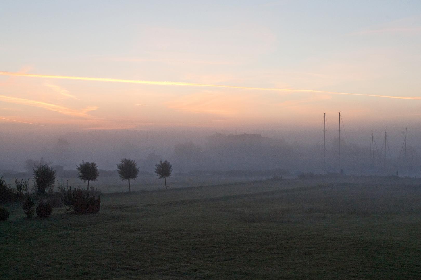 Morgennebel über der Baaber Bek