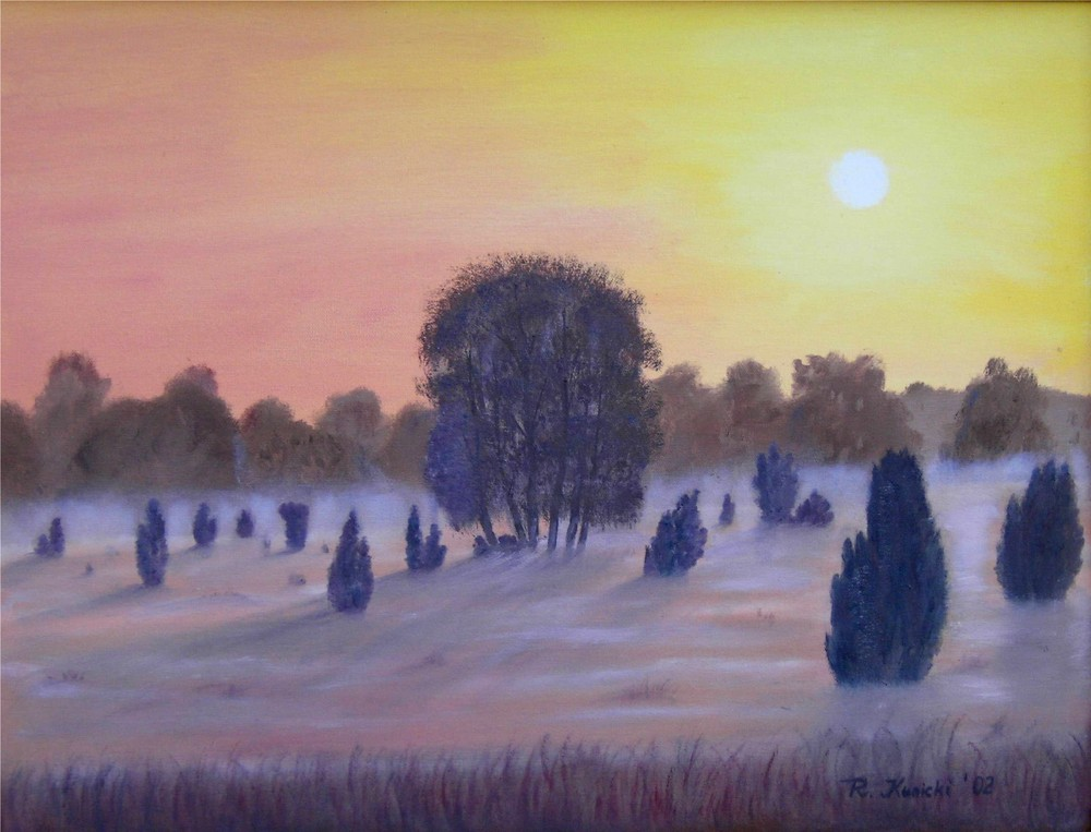 """""""Morgennebel über der Heide"""" # 2"""