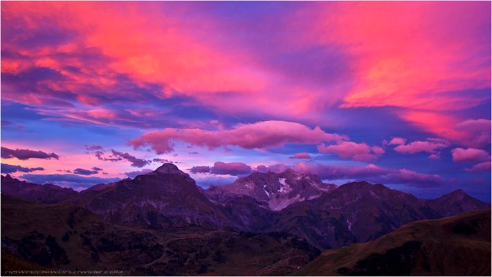 Morgenpanorama Lechtaler Alpen