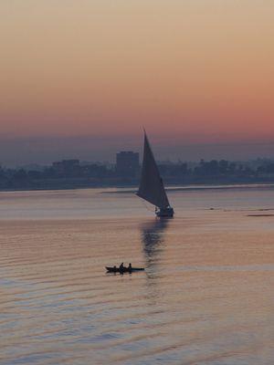 Morgenröte auf dem Nil
