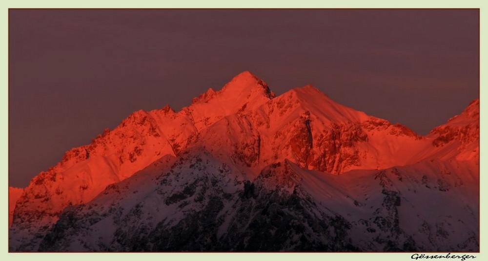 Morgenrot an der Scheichenspitze