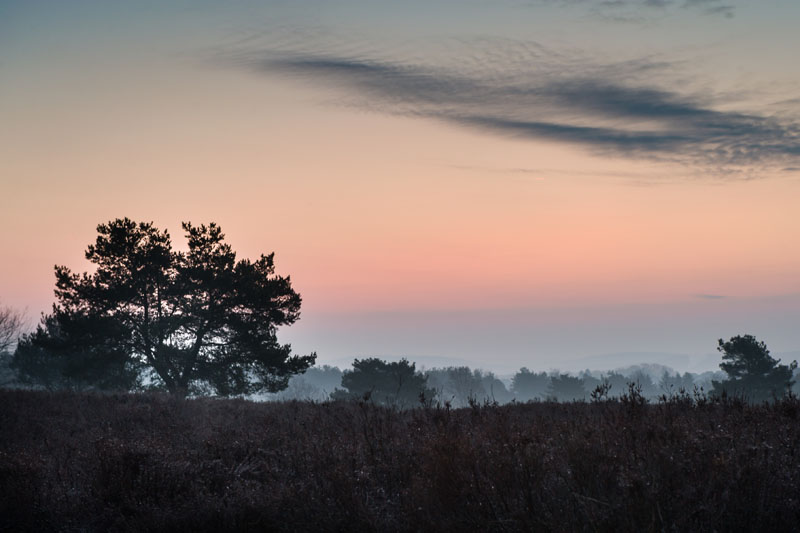 Morgenrot beim Natur- und Landschaftskurs