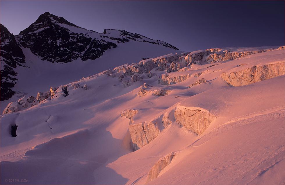 Morgenrot im Eisbruch