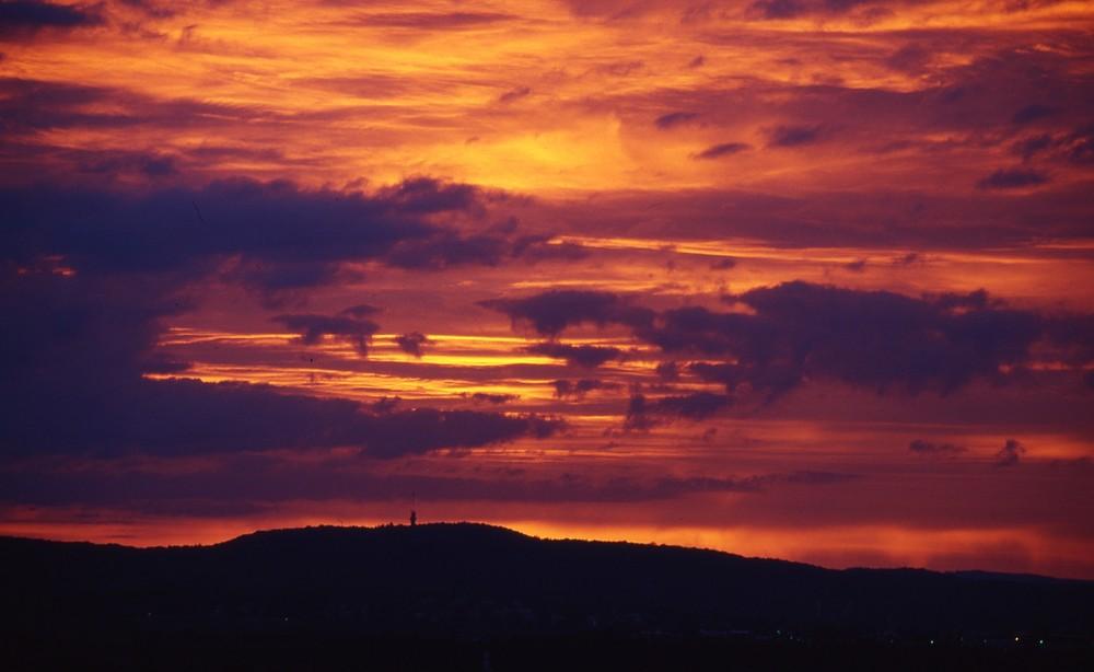 Morgenrot Richtung Heilbronn