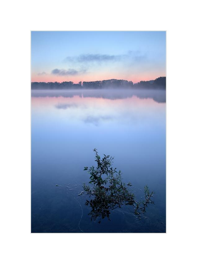 Morgenrot und Nebel