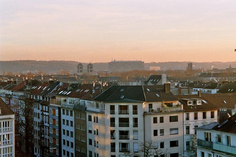 Morgens 8 Uhr auf der Rochuskirche Düsseldorf