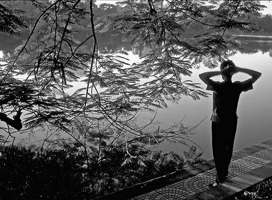 Morgens am Hoan Kiem See, Hanoi