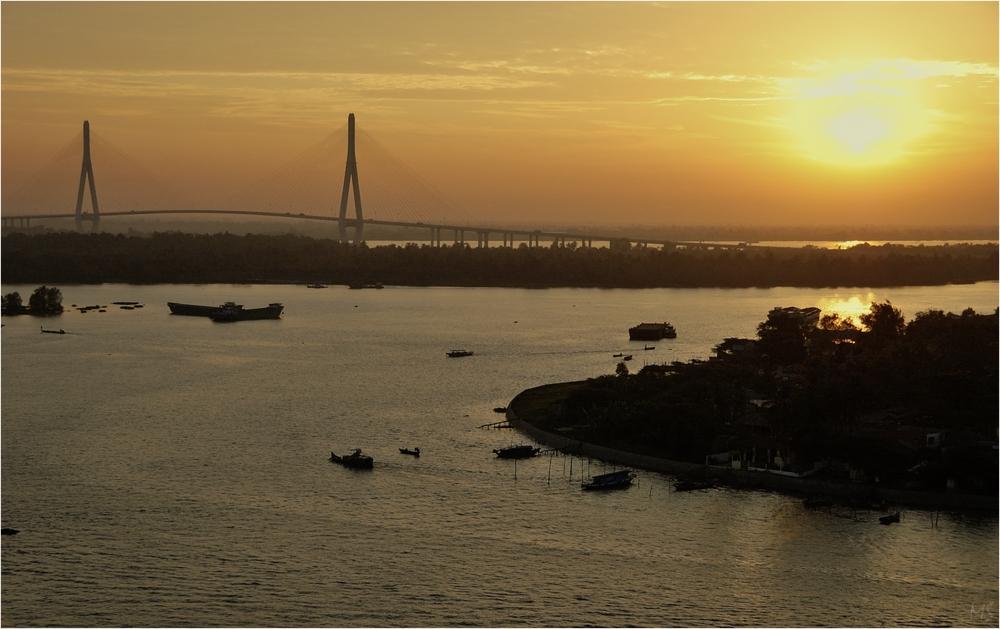 Morgens am Mekong