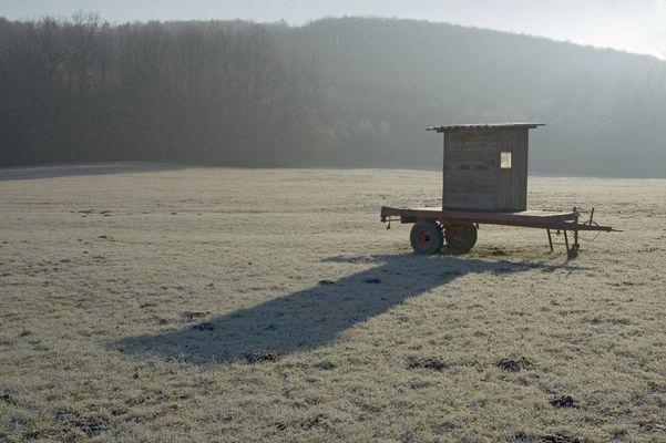 Morgens am Rande der Schwäbischen Alb