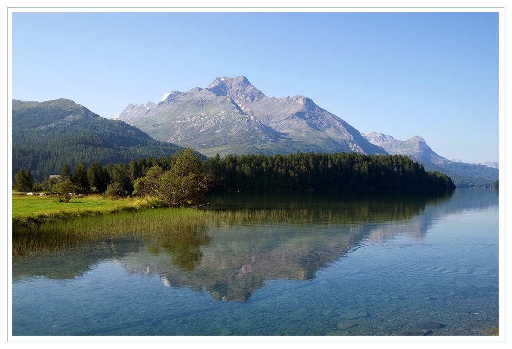 Morgens am Silser See