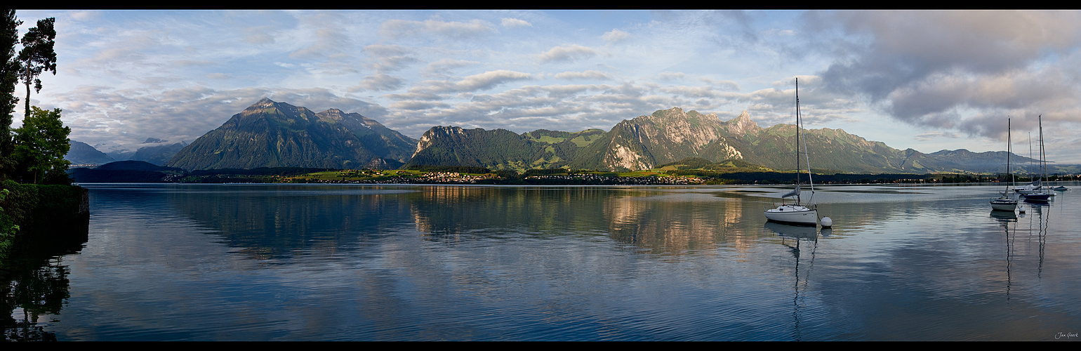 Morgens am Thunersee