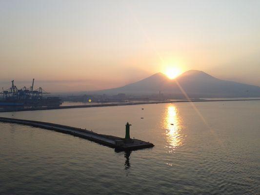 Morgens am Vesuv