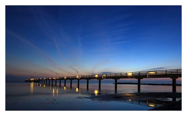 ...morgens an der Seebrücke