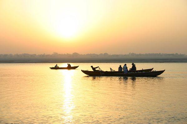 Morgens auf dem Ganges (Varanasi)