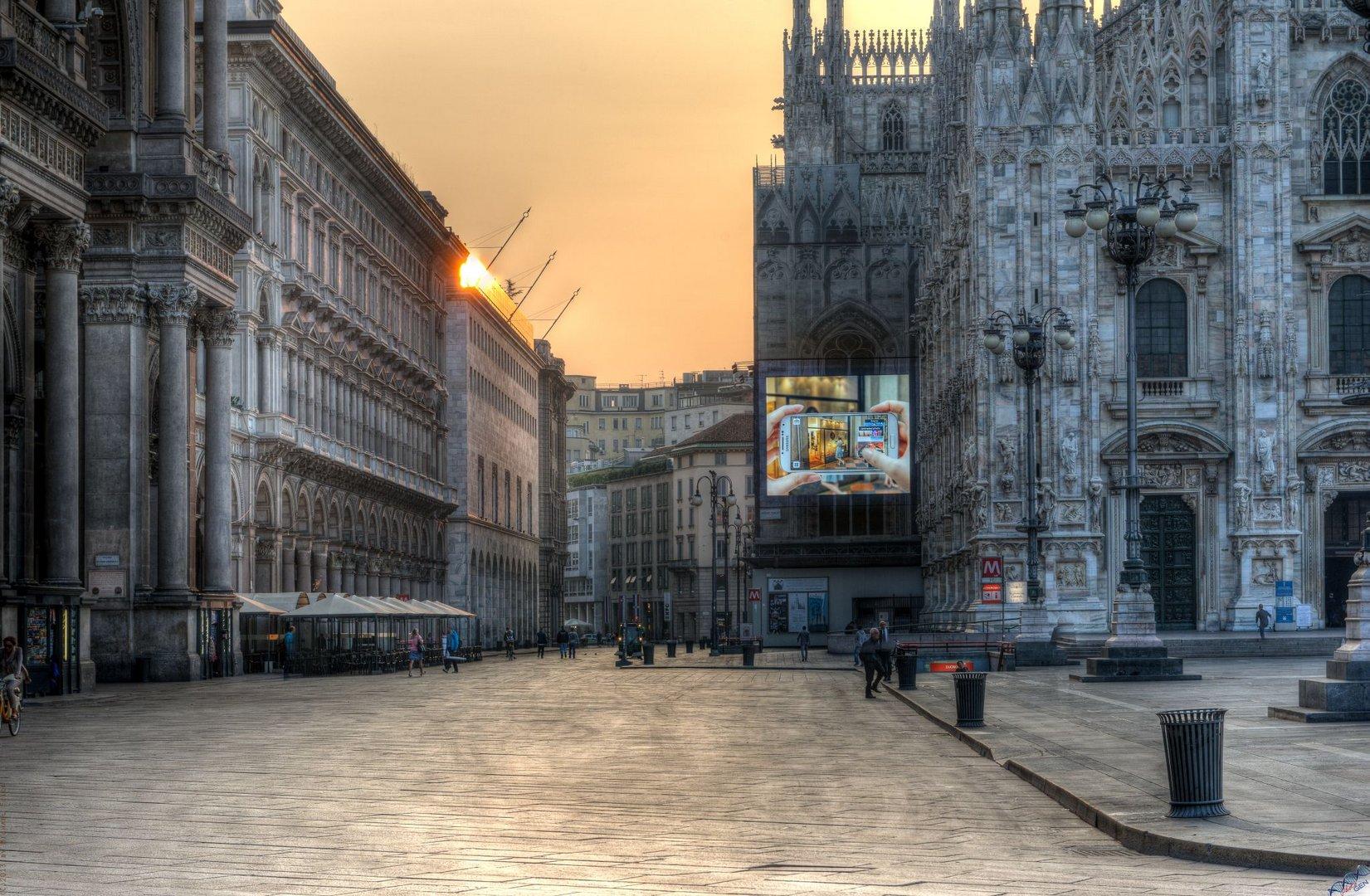 Morgens halb acht in Mailand