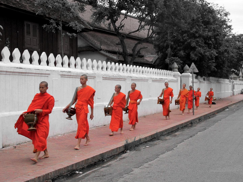 Morgens halb sechs in Luang Prabang