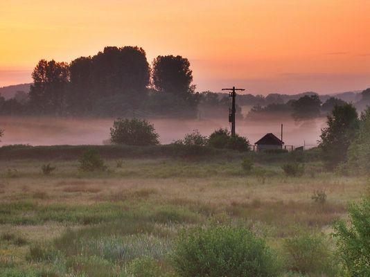 Morgens hinterm Indugebiet